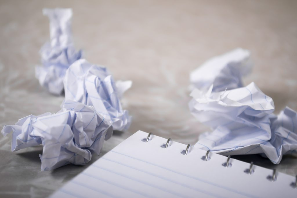 A picture of crumpled up paper