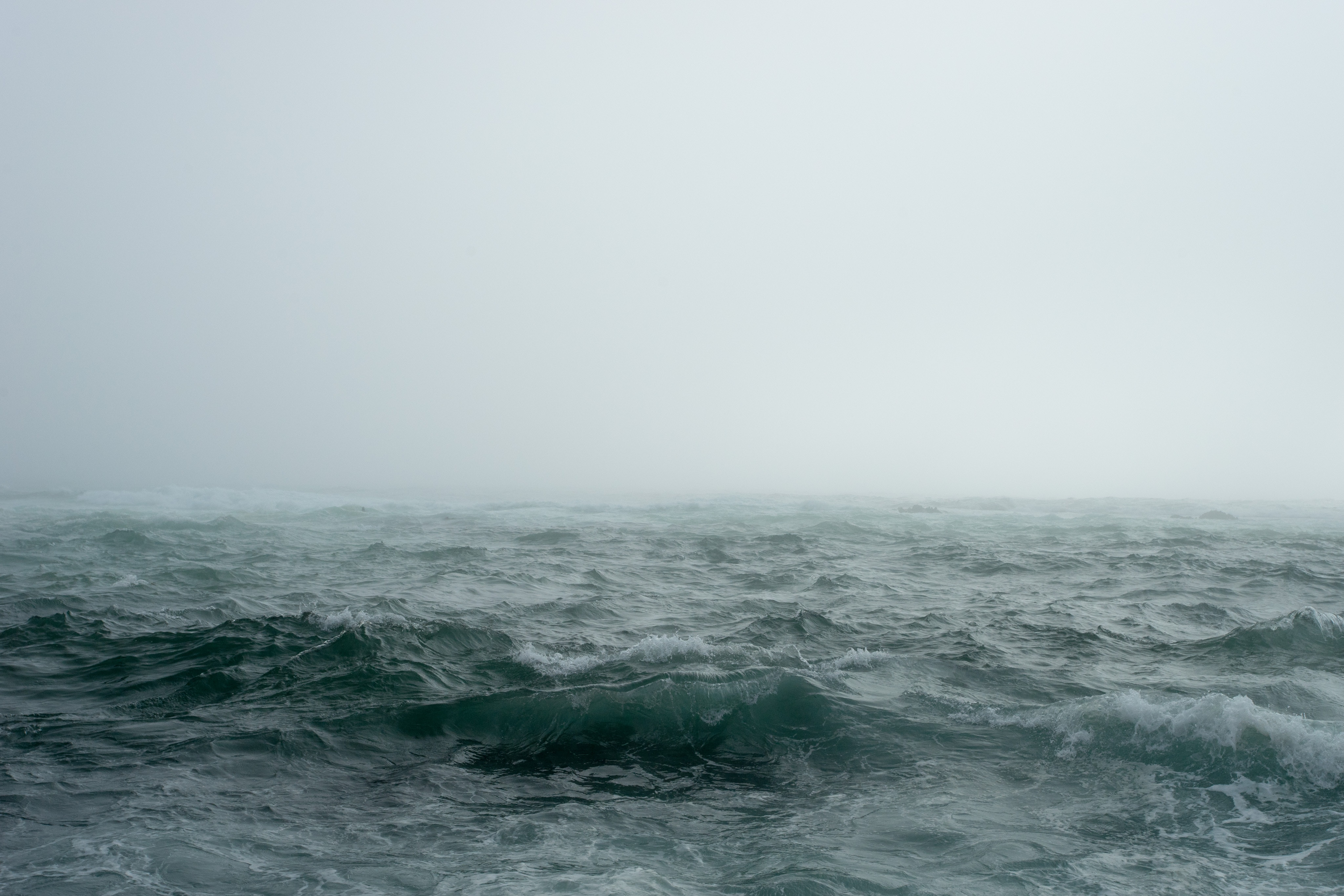 A picture of a grey sea