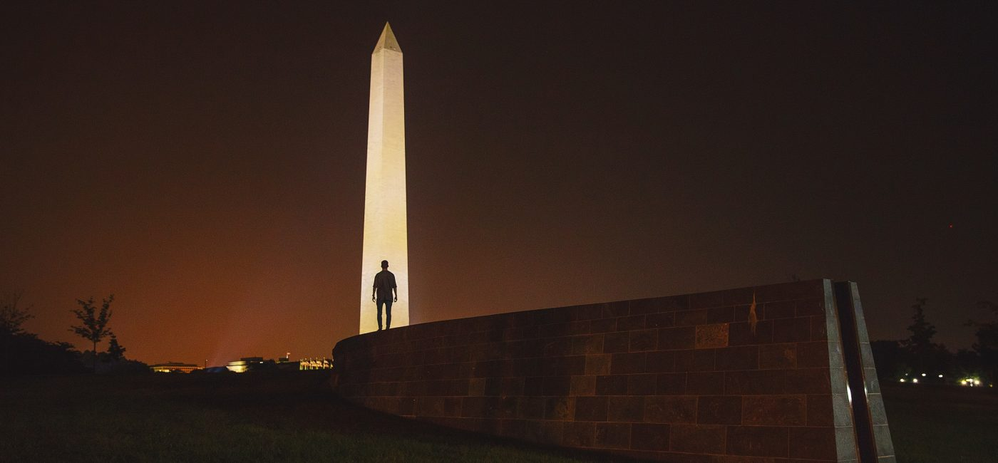 A picture of Washington DC at night