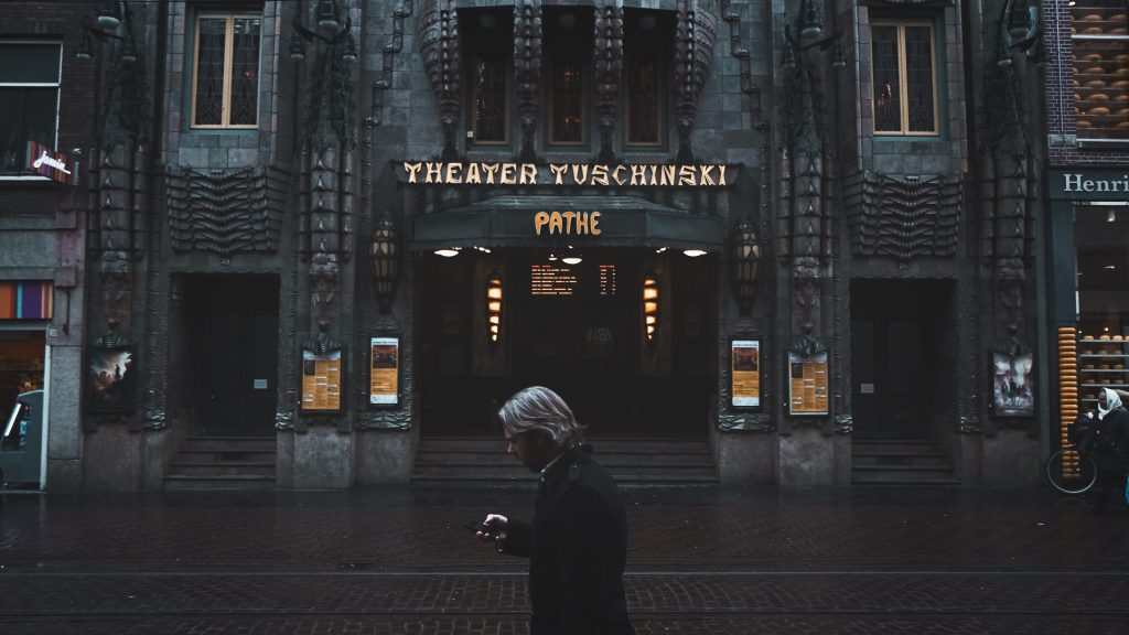 A picture of a cinema in Amsterdam