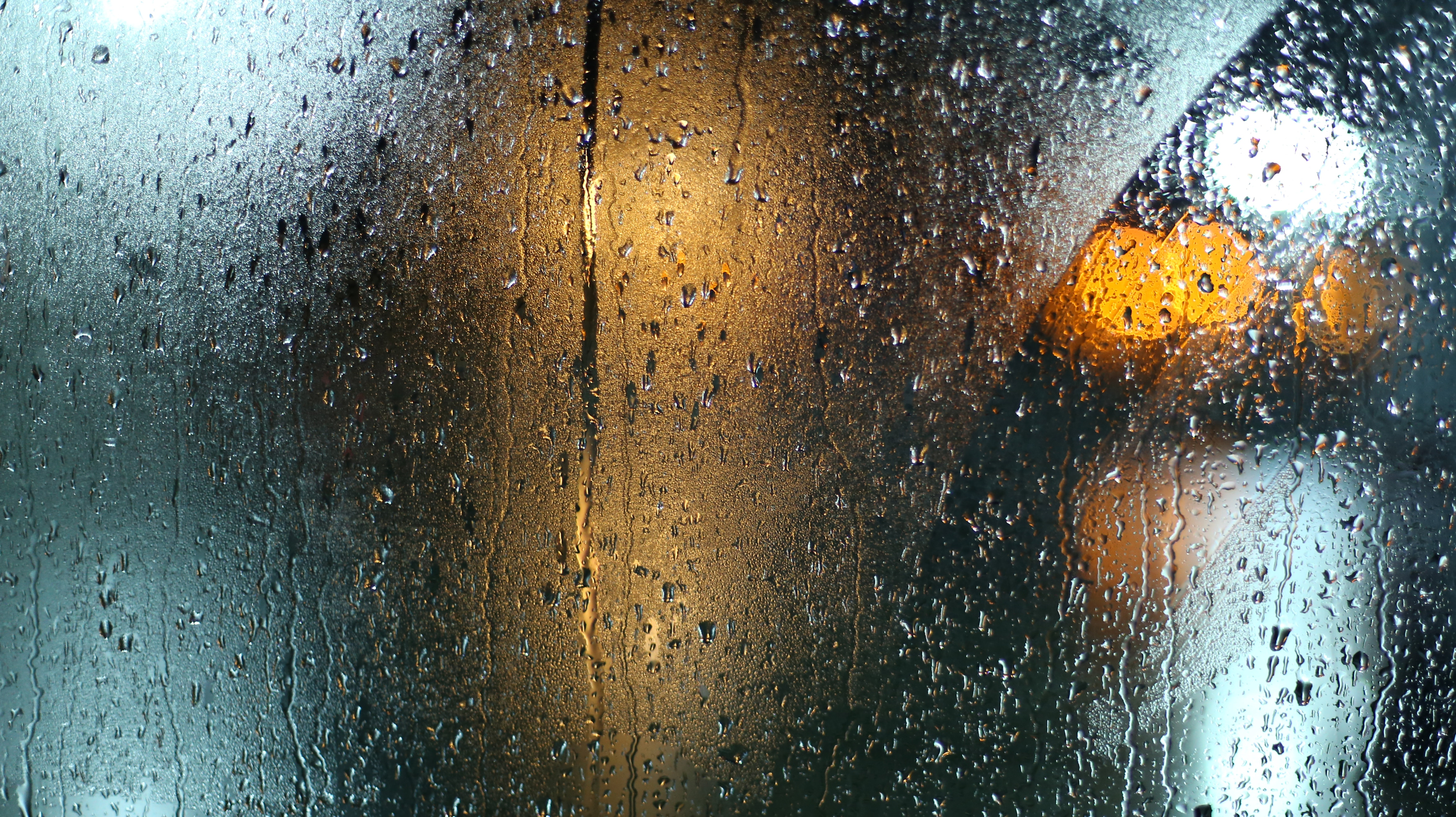 A picture of rain on a window