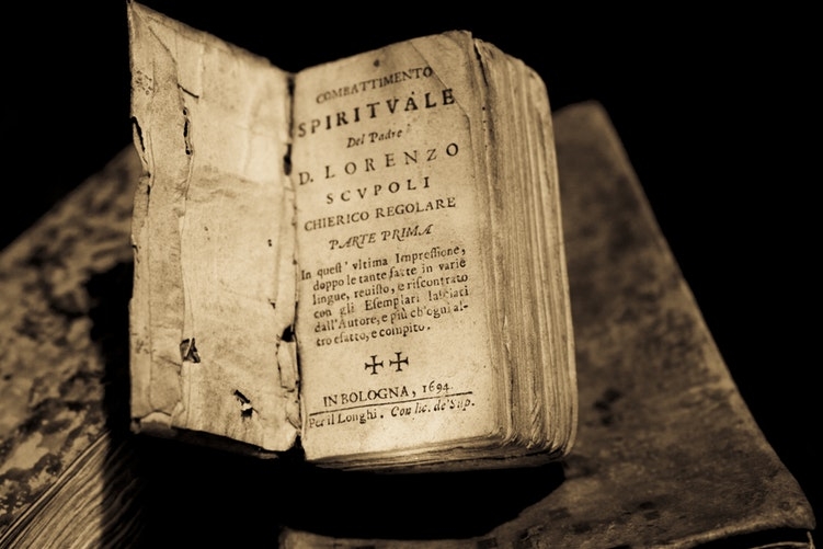 A picture of a very old book
