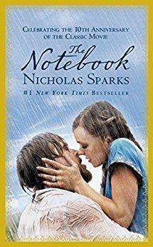 A book cover of a Nicholas Sparks novel