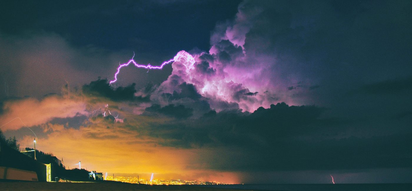 A picture of stormy skies