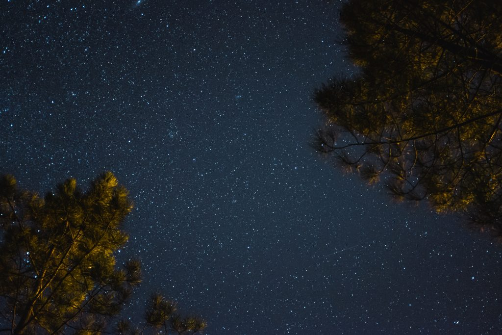 A picture of a night sky