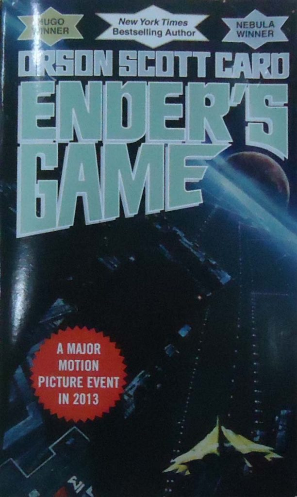 A picture of the Enders Game book cover