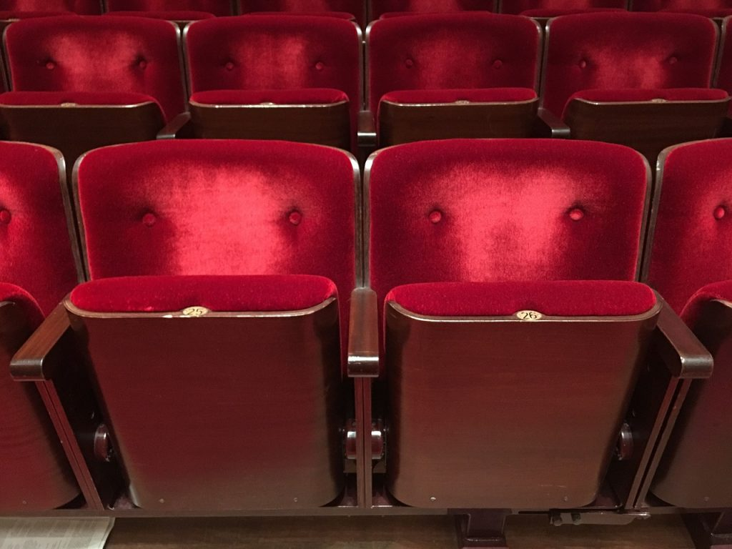 A picture of cinema seats.