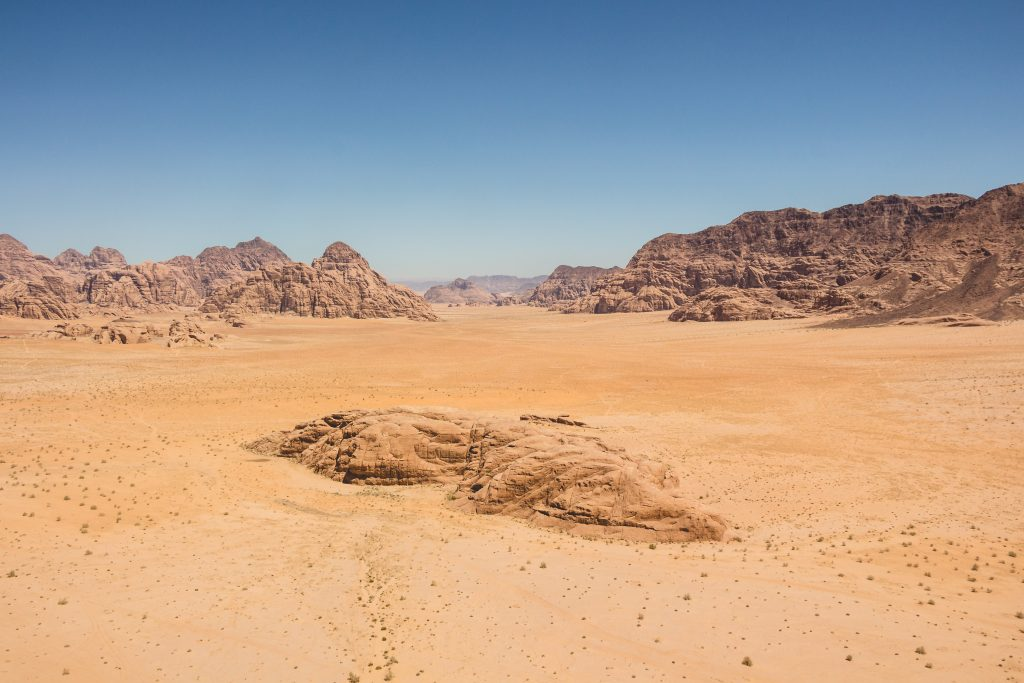 A picture of a red and barren landscape