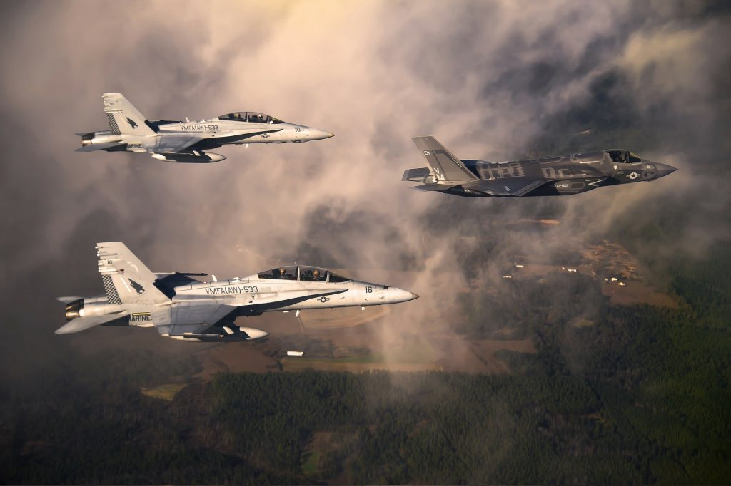 A picture of fighter jets
