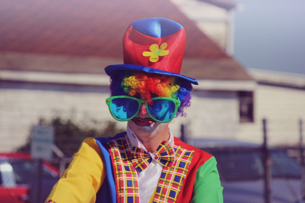 A picture of a clown