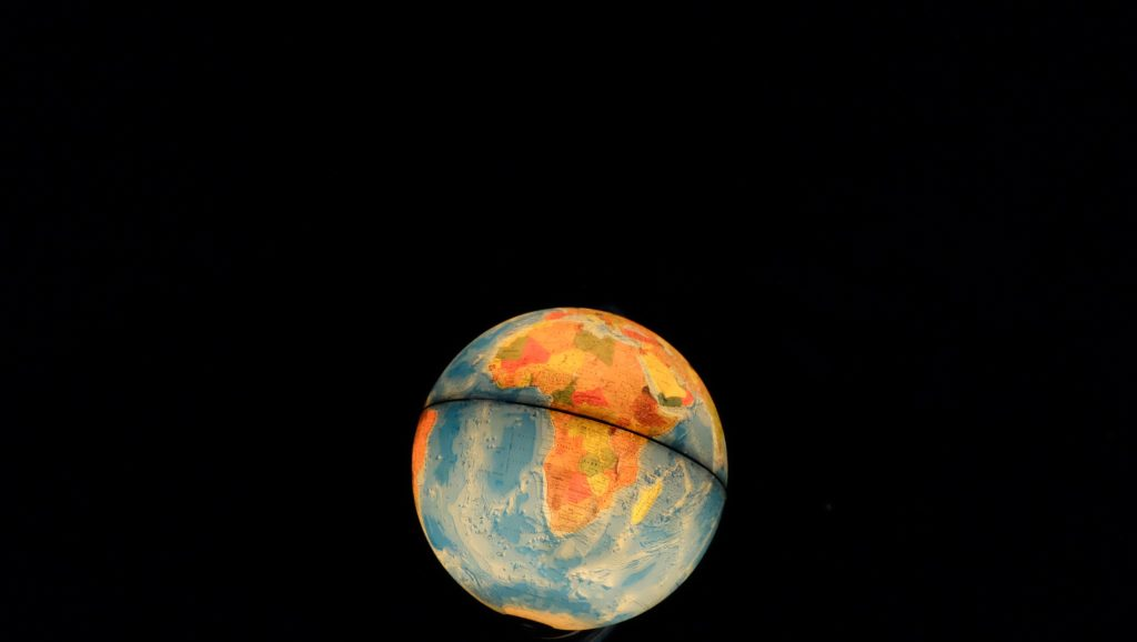 A picture of a globe