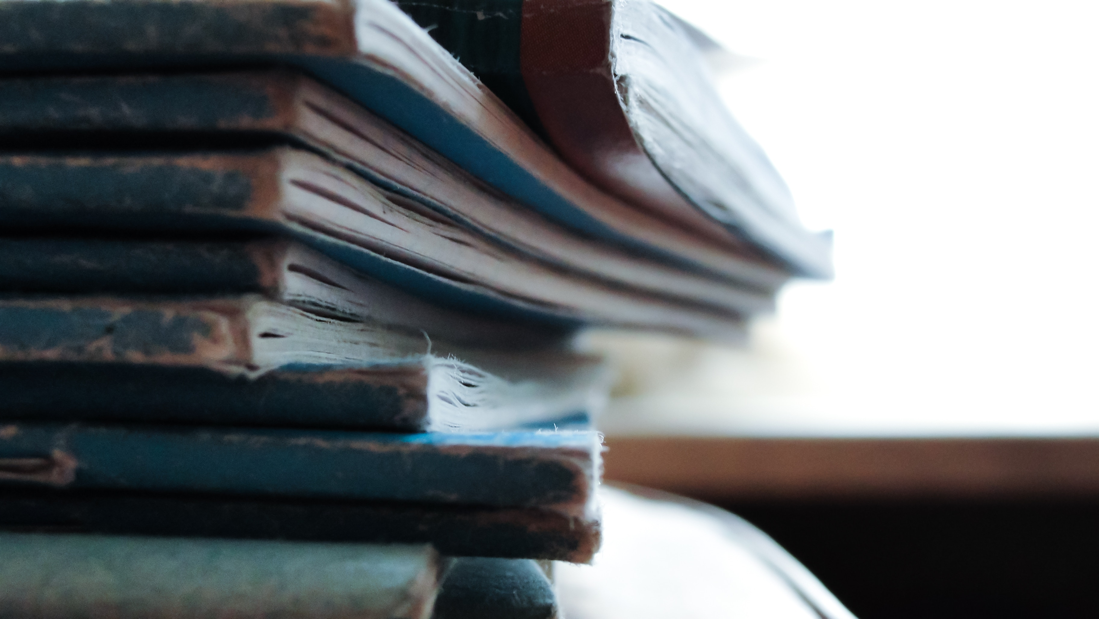 Piles of writers Notebooks
