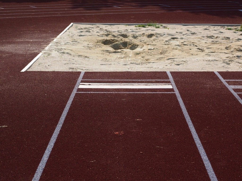 Picture of a long jump sand pit